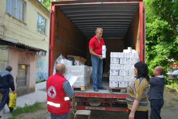 БЧК започна  раздаване на хранителни продукти на уязвими  граждани от нашата община